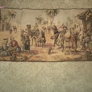 Tapestry with Mid East scene